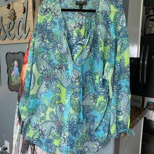 NWOT Lane Bryant Sheer Blouse Size 22/24